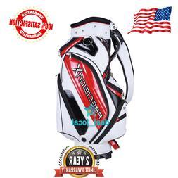 13 Clubs Golf Cart Stand Carry Bag 5 Way Divider Top Organiz