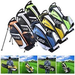 13 Clubs Golf Cart Stand Carry Bag 14 Way Divider Top Organi