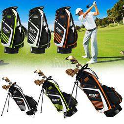 14 Way Multi Pockets PGM Golf Stand Cart Bag with Dual Strap