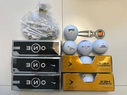 19 nike and golf balls including bag
