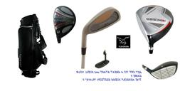 +1 INCH TALL MENS FULL GOLF CLUB SET w60 DRIVER+5 WOOD+HYBRI