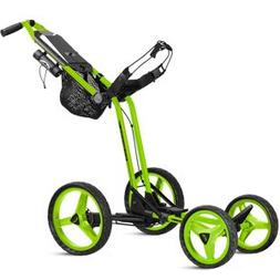 2017 Sun Mountain Micro Cart GT, Golf Push Cart, Lime, New