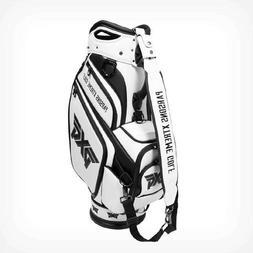 PXG 2017 Staff Bag Men's Golf Bag NEW 6 Way Top Black White