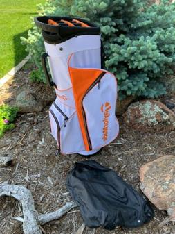 Taylormade 2017 Tm 5.0 Carry Golf Bag Orange White Black