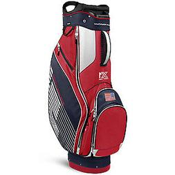 2017 Sun Mountain X1 Golf Cart Bag, Navy/White/Red, New
