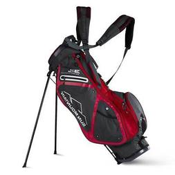 Sun Mountain 2018 3.5 LS Stand Bag - Gunmetal / Red - CLOSEO