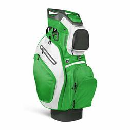 Sun Mountain 2018 C-130  Cart Bag - Gunmetal / Lime / White