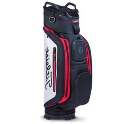 2018 Titleist Golf Deluxe CB Club 14 Cart Bag COLOR: Black/W