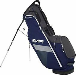 PING 2018 Hoofer Lite Carry Stand Golf Bag Navy Graphite Whi