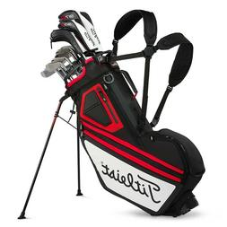 """Titleist 2018 Players 14 Stand Bag - Black/White/Red - """"Clos"""