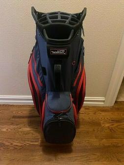 2019 Titleist 14 Lightweight Cart Bag Charcoal/Black/Red