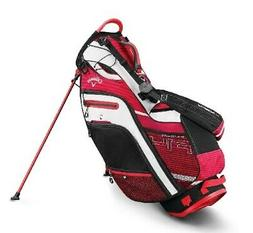 2019 Callaway Golf Fusion 14- Way Stand Bag - Red/Black/Whit