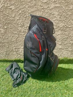 2019 Callaway Golf ORG 14 Way Cart Bag - Titanium/Black/Red.