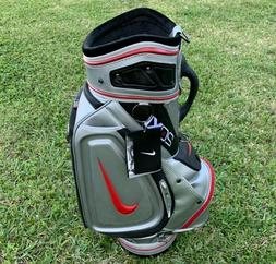 Nike 20XI Staff Golf Bag 6-Way Divide Black Silver Red Tour
