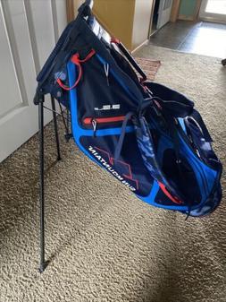Sun Mountain 3.5LS Stand Golf Bag 4 Way New Blue Camo Red