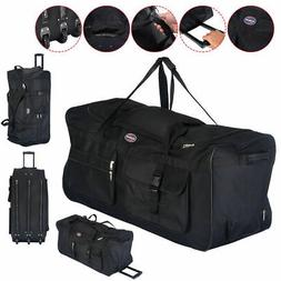 "36"" Rolling Wheeled Tote Duffle Bag Luggage Travel Duffle Su"