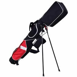 5'' Sunday Golf Bag Stand 7 Clubs Carry Pockets Travel Stora