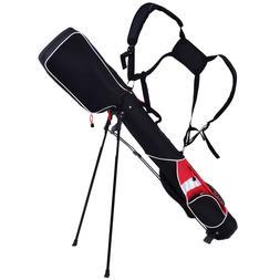 """5"""" Sunday Golf Bag Stand Lightweight 7 Clubs Carry Pockets G"""
