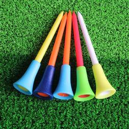 50 Pc/bag Multi Color Plastic Golf Tees 83mm Durable Rubber