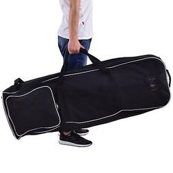 600D Oxford Cloth Black Foldable Golf Bag Organizer Outdoor