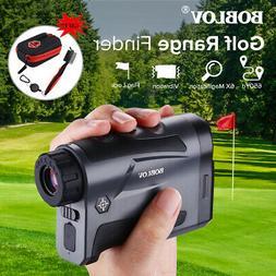 656Yards 6X LCD Laser Golf Telescope Rangefinder Speed Mode