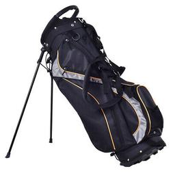 "9"" Golf Stand Bag Club 7 Way Divider Carry Organizer Pockets"
