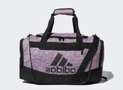adidas Defender III Duffel Bag, Onix Jersey/Black, Small