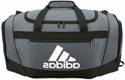 adidas Women's Defender III small duffel Bag, Onix/Black/Whi