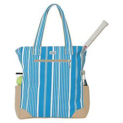 Ame & Lulu Emerson Tennis Tote - Ticking Stripe Other Sports