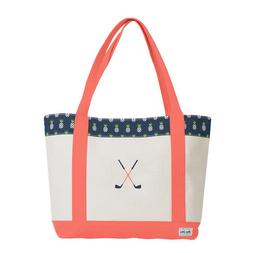Ame & Lulu Golf Lover Tote Bag with Pouch NEW