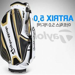 "TaylorMade Atrix 5.0 9.4"" Caddie Bag Authentic WhiteGold Gol"