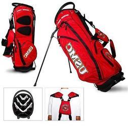 Authentic Team Golf USMC Marines 14 Divider Golf Bag Stand B