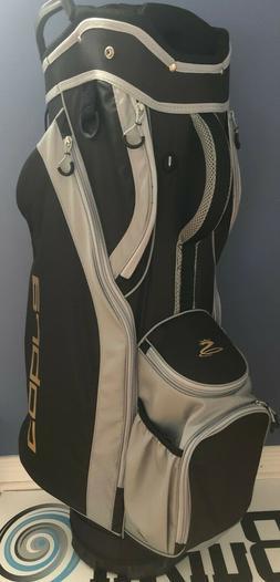 Brand new Cobra 14 dividers golf cart bag black grey gold ve