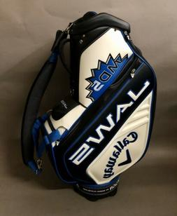 "Brand New Callaway Golf MD5 JAWS 10"" Staff Golf Bag White/Bl"