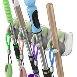 ❤Broom Holder No Drilling Mop and Broom Holder Self Adhesi