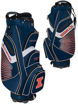 Team Effort Bucket II Cooler NCAA Golf Cart Bag Illinois Fig