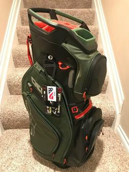 SUN MOUNTAIN C-130 BRAND NEW 14 WAY GOLF CART BAG RARE ORANG