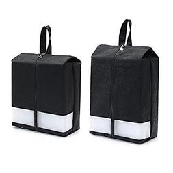 CaddyDaddy Golf Modern Golf Shoe Bag, Black Pack 2