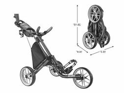 CaddyTek Caddylite EZ V8 - EZ-Fold 3 Wheel Golf Push Cart Ve