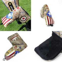 Camouflage USA American Flag Blade Putter Cover For Ping Ody