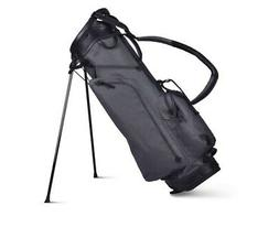 SUN MOUNTAIN CANVAS/LEATHER STAND GOLF BAG 2019 - SLATE/BLAC