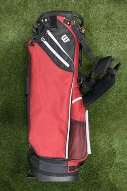 Wilson Carry Stand Golf Bag Maroon Red Black White 5-Way Div