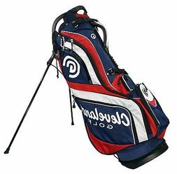 CLEVELAND CG STAND GOLF BAG MENS NEW - NAVY/RED/WHITE