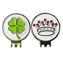 Beautiful Clover Crown Golf Ball Markers with Magnetic Hat C