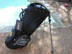 ADDIDAS CLUTCH Stand/Carry Golf Bag Black NEW! STARBURST