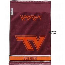 Team Effort Collegiate Logo Jacquard Golf Towels Virginia Te