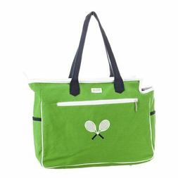 Ame And Lulu Crossed Racquet Court Bag Green