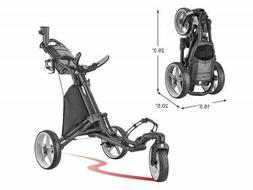 Cyber Monday CaddyTek Swivel Golf Push Cart Version 8 Blue L