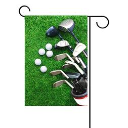 ALAZA Duble Sided Golf Ball and Golf Club in Bag On Green Gr