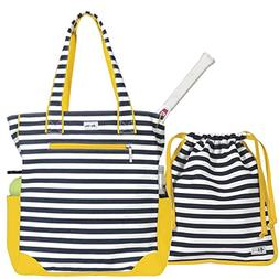 Ame & Lulu Emerson Women's Tennis Tote with Matching Drawstr